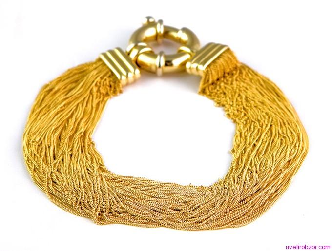Выбор золотых браслетов