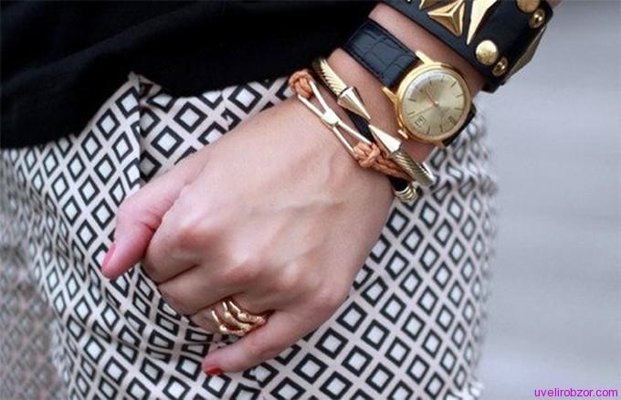 браслет золотой на руку женский