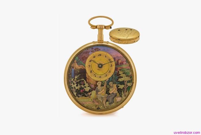 Старинные карманные часы с репетиром Henry Capt No. 602 Musique d'Amour