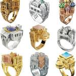 Необычные украшения из золота
